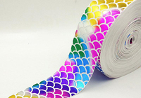 Foil Fish Scales Printed Ribbon